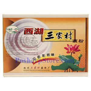 Picture of Sanjiacun Instant Low Sugar Lotus Powder 10.5 Oz, 10 bags