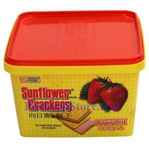 图片 向日葵牌草莓味夹心饼干 800克