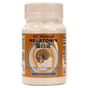 Picture of All Natural Melatonin 60 Capsules