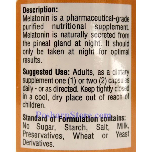 Picture for category All Natural Melatonin 60 Capsules