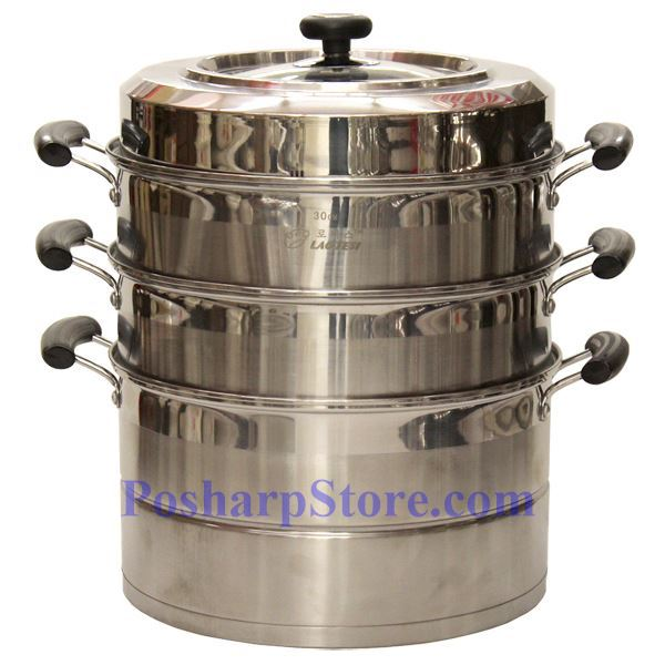 Picture for category Laotesi 11-Inch Three Tier Stainless Steel American Style Stock Pot