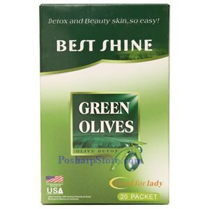 Picture of Best Shine Green Olive Detox and Beauty 20 Packets