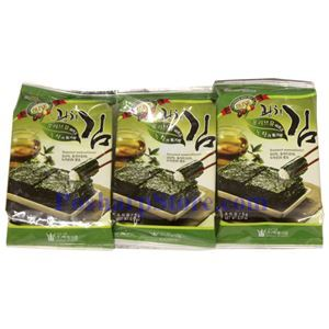 Picture of Oriental F&B Seasoned Wangcheon Seaweed with Olive Oil 0.51Oz 3 packs