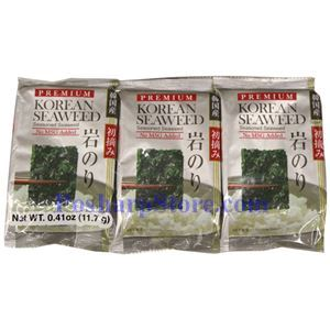 Picture of Shirakiku Premium Seasoned Seaweed 0.39 Oz, 3 packs