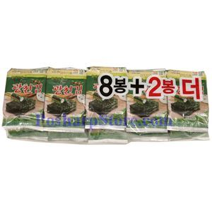 Picture of Korean Roasted & Seasoned Seaweed 1.7 Oz, 10 packs