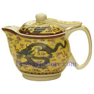 图片 金龙陶瓷壶茶(4英寸)