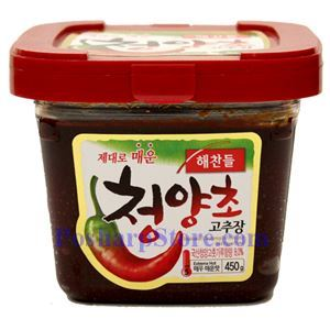 Picture of Haechandle Gochujang Hot Pepper Paste (Extreme Hot) 15.8 Oz