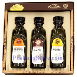 Picture of Haechandle Premium Sunflower Oil, Grapeseed Oil & Canola Oil Gift Set