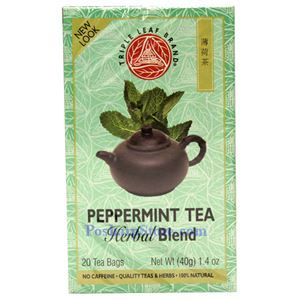 Picture of Triple Leaf Brand Herbal Blend Peppermint Tea, 20 Teabags