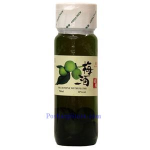 Picture of Hongwanshou Plum Wine with Plums 23.5 oz