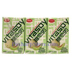 Picture of Vitasoy Melon Flavored Soy Drink 8.4 Fl Oz (6 Pack)