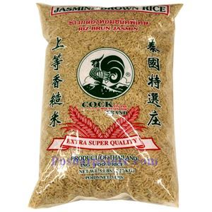 Picture of Cock Brand Premium Jasmine Brown Rice  5 Lbs