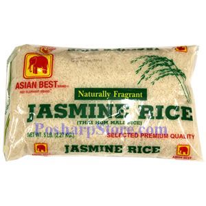 Picture of Asian Best Natural Fragrant Jasmine Rice  5 Lbs