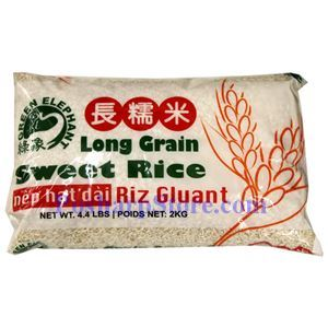 Picture of Green Elephant Long Grain Sweet Rice 4.4 Lbs
