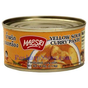 Picture of Maesri Yellow Sour Curry Paste 4 Oz