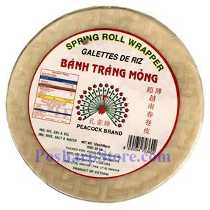 Picture of Peacock Spring Roll Wrapper 22CM 12 Oz