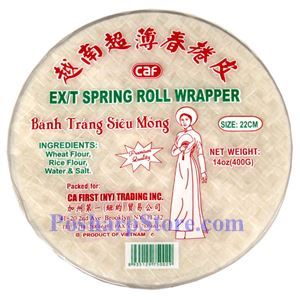 Picture of CAF Extra Thin Spring Roll Wrapper 22CM 14 Oz