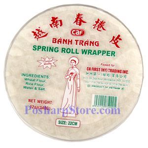 Picture of CAF Spring Roll Wrapper (Banh Trang) 22CM 12Oz