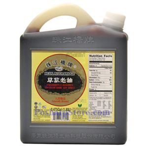 Picture of Pearl River Bridge Mushroom Flavored Dark Soy Sauce 1.8 Liters