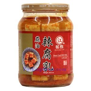 Picture of Jiangji Fermented Bean Curd with Chili  Sesame Oil 28.2 Oz