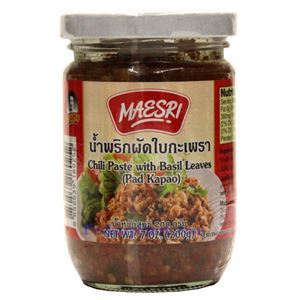 Picture of Maesri  Chili Paste with Basil Leaves (Pad Kapao) 7 Oz