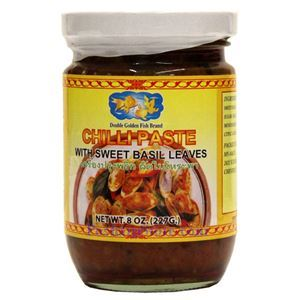 Picture of Double Golden Fish Chili Paste with Sweet Basil Leaves 8 Oz
