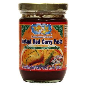 Picture of Double Golden Fish (Thai)  Instant Red Curry Paste  8 Oz