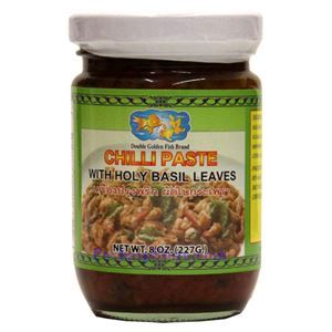 Picture of Double Golden Fish Chili Paste with Holy Basil Leaves  8 Oz
