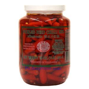 Picture of White Orchid Pickled Bird Red Chili Peppers 1 Lb