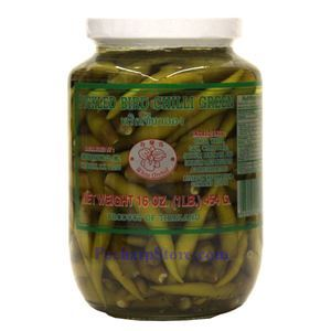 Picture of White Orchid Pickled Bird Green Chili Peppers 1 Lb