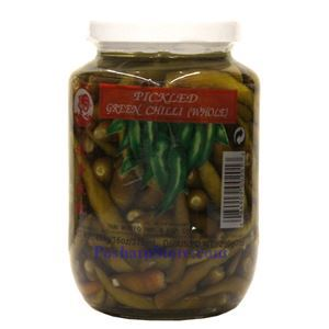Picture of Cock Brand Pickled Whole Green Chili Peppers 1 Lb