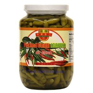Picture of Dragon Pickled Green Chili Peppers (Ot Chua) 1 Lb