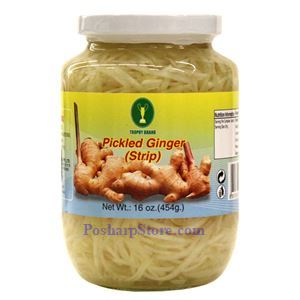 Picture of Trophy Brand Pickled Ginger Strips 1 Lb