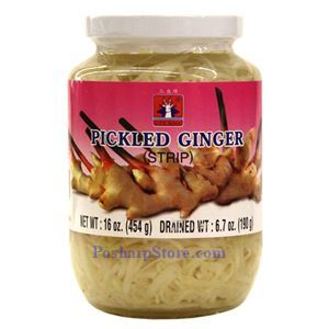 Picture of CTF Brand Pickled Ginger Strips 1 Lb