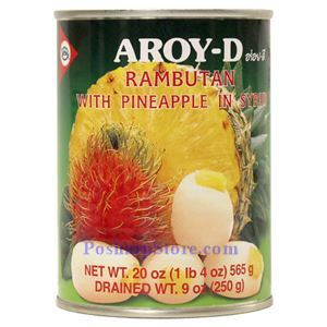 Picture of Aroy-D Rambutan with Pineapple in Syrup 20 Oz