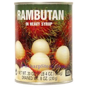 Picture of Double Swallow Rambutan in Heavy Syrup 20 Oz