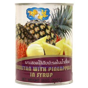 Picture of Double Golden Fish Rambutan With Pineapple in Syrup 20 Oz