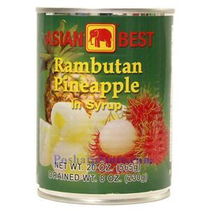 Picture of Asian Best Rambutan with Pineapple in Syrup 20 Oz