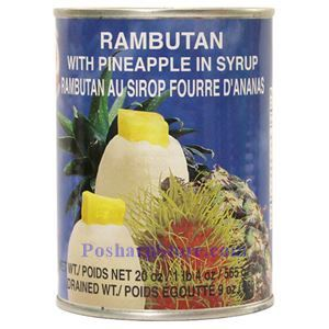 Picture of Cock Brand Rambutan with Pineapple in Syrup 20 Oz