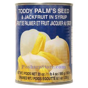 Picture of Cock Brand Toddy Palm Seed & Jackfruit in Syrup 20 Oz