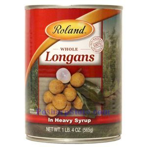 Picture of Roland Whole  Longan in Heavy Syrup 20 Oz