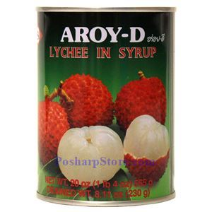 Picture of Aroy-D Lychee in Syrup 20 Oz