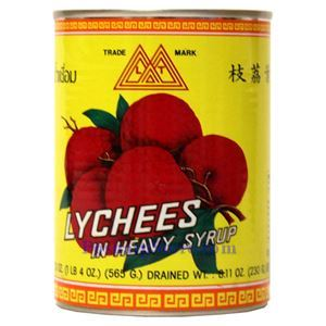 Picture of Lamthong Black Leaf Lychee in Heavy Syrup 20 Oz