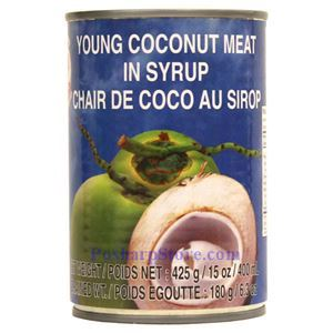 Picture of Cock Brand Young Coconut Meat in Syrup 15 Oz