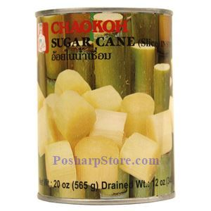 Picture of Chaokoh Sugar Cane Slices in Syrup 20 Oz