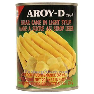 Picture of Aroy-D Sugar Cane in Light Syrup 20 Oz