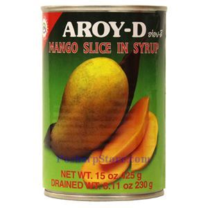 Picture of Aroy-D Mango Slices in Syrup 15 Oz