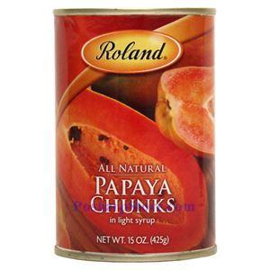 图片 Roland牌淡糖水木瓜 425克