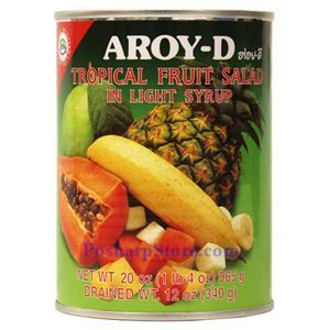 Picture of Aroy-D Tropical Fruit Salad in Light Syrup 20 Oz