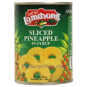 Picture of Lamthong Sliced Pineapple in Syrup 20 Oz
